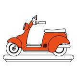 Scooter motorcycle cartoon vector illustration graphic design