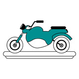 Small motorcycle cartoon vector illustration graphic design