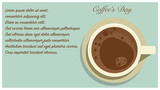 Cup of Coffee Flat Design illustration with Coffee's day concept art.