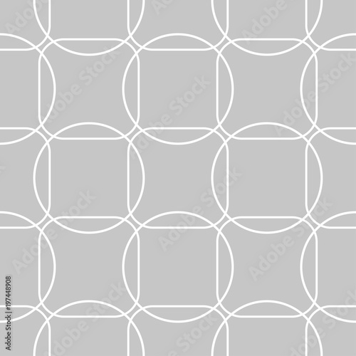 Gray and white geometric seamless pattern - 197448908
