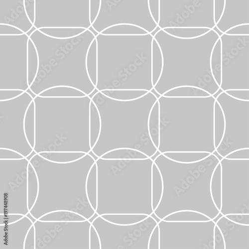 Gray and white geometric seamless pattern - 197448908