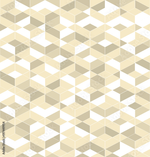 Fototapeta Retro pattern of geometric shapes. Gold mosaic banner. Seamless