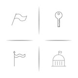 Buildings And Constructions simple linear icon set.Simple outline icons