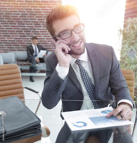 businessman discussing financial profit