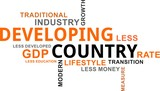 word cloud - developing country - 197460940