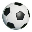 Leinwandbild Motiv Klassischer Fußball isoliert vor weiß