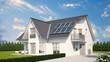 Soloranlage oder Photovoltaik auf Einfamilienhaus
