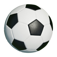 Klassischer Fußball isoliert vor weiß