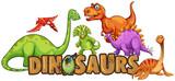 Word design for dinosaurs - 197475113