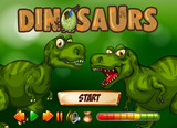 Game template with T-Rex in background - 197476396