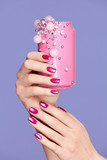 Pink Nails. Woman With Soda Can In Hands - 197476500