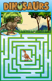 Puzzle template with dinosaur theme - 197477316