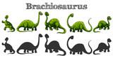 Brachiosaurus in five different actions - 197477513