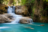 The flowing water representing the free flow of energy and qi, Kuang Si Waterfalls at Luang Prabang, Laos