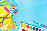 Different accessories for handicraft on the paper background. - 197484566