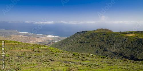 Deurstickers Canarische Eilanden landscape of Lanzarote, Canary Islands