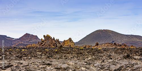 Fotobehang Canarische Eilanden landscape of Lanzarote, Canary Islands