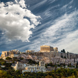 Parthenon, Acropolis of Athens, Under Dramatic sky, Greece - 197515535