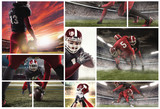 The collage about american football players - 197517570
