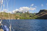 Die schroffen Berge de Insel Ua Pou, Marquesas Inseln,französisch Polynesien - 197518729