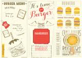 Template Menu for Burger House - 197519546