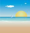 Yaz tatili, deniz, kum ve güneş.