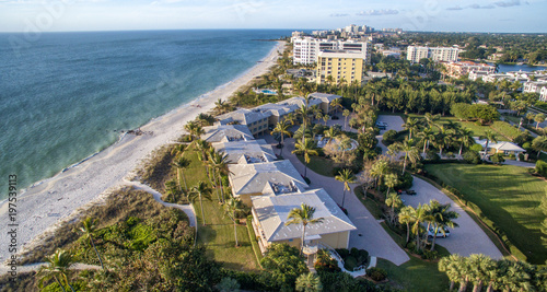 In de dag Napels Aerial view of Naples Beach, Florida