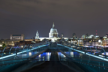 Millennium Bridge London at Night