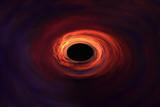 Fototapeta Space - Galaktyka w kształcie spirali, rzywioł, oko cyklonu. © blachowicz102