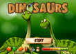 Game template with two dinosaurs