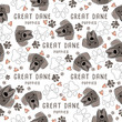 Dog breed collection : Seamless Pattern : Vector Illustration