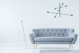 Gray sofa in modern interior - 197607580