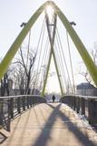 Green pedestrian bridge, Wroclaw, Poland, Silesia, Europe