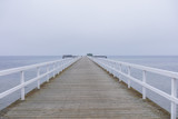 wooden pier on the baltic sea