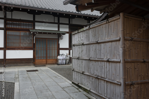 Fotobehang Kyoto Traditional Japanese House in Japan, made from bamboo