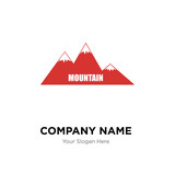 moutain company logo design template, Business corporate vector icon