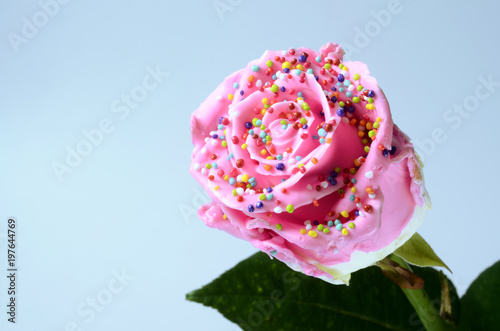 Pinky rose flower, imitation candy