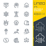 Fototapety Lineo Editable Stroke - Strategy and Management outline icons
