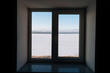 The lake outside the window