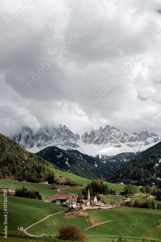 View of the dolomite alps in the north of Italy