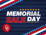 Memorial day sale banner template design - 197672782