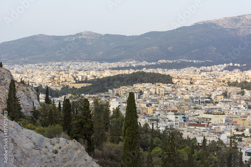 Keuken foto achterwand Athene view of Athens from the hill, cityscape, Greece