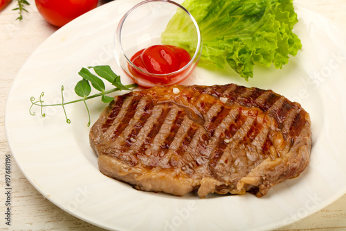 Foto op Plexiglas Steakhouse Rib eye steak