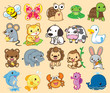 20 Animals, cute vector - 197712509