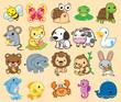 20 Animals, cute vector