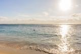 réverbération du soleil sur la mer