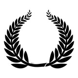 Sport wreath icon. Simple illustration of sport wreath vector icon for web