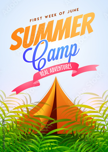 summer camp poster flyer or banner design buy photos ap images