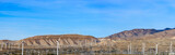 Wide panorama of Windmills at Palm Springs, California, U.S.A.