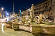 Night view, Piazza Navona, Rome. Italy